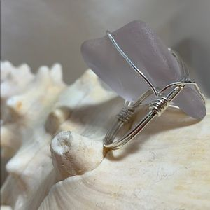 Hand Crafted Jewelry - Lavender sea glass ring
